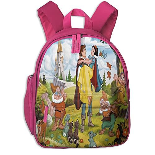 Blancanieves y los siete enanos Bambi Bolsas de escuela personalizadas para niños y niñas, lindas mochilas para estudiantes de primaria, cumpleaños de niños y regalo de Navidad