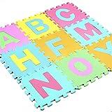 Suave 26 unids / set 30 * 30 cm Dibujos animados Inglés Patrón de alfabeto Bebé Crawling Mat Rompecabezas Juguetes para niños EVA Espuma Yoga Cartas de letra Aprendizaje Juguete Decoración Hogar