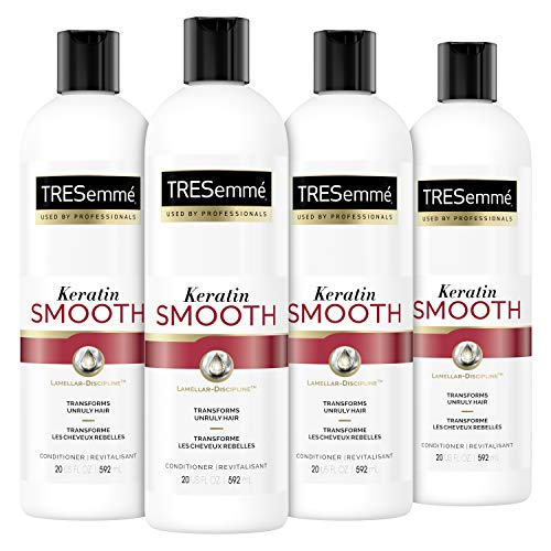 TRESemmé Conditioner for Dry Hair Keratin Smooth for Sleek, Smooth, Shinier Hair 20 oz 4 Count