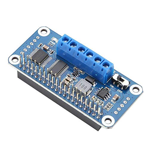 Tin-YAEN Motor Driver Scheda da Raspberry Pi, 6V-12V 2 Vie Driver Motore CC Module, PWM Doppia H-Bridge, Chip di Bordo PCA9685, interfaccia I2C, for Raspberry Pi Zero/Zero W/Zero WH / 2B / 3B / 3B
