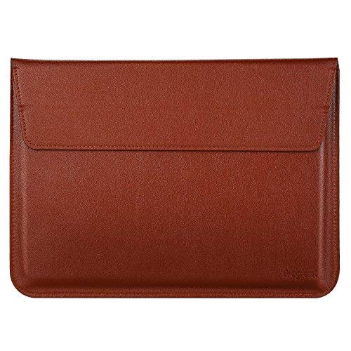 Laptop Sleeve Bag, Egiant Soft PU Protective Leather Sleeves Case for 13.3 inch MacBook Air 13/Pro Retina,New MacBook Pro 2016,iPad Pro,Surface Book-Brown