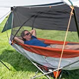 Republic of Durable Goods Camping Hammock Stand Portable Folding Cot, All-Inclusive Design for Outdoor, Patio, Camping, Beach and Festivals (Orange)
