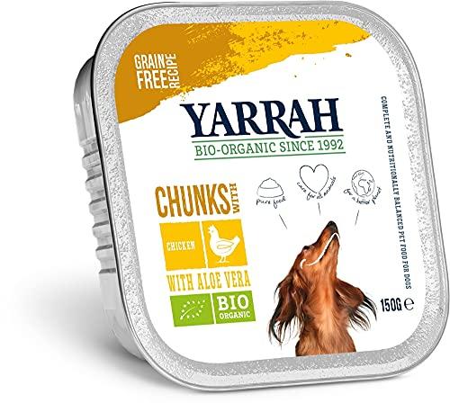 Yarrah Bio Hundefutter - Huhn und Meeresalge in Soße - 150 g - 12er Pack