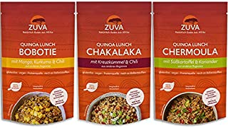 ZUVA Quinoa Lunch Discovery Set – Bobotie, Chermoula & Chakalaka – Vegan & Glutenfrei 1x 75g - 6er Pack
