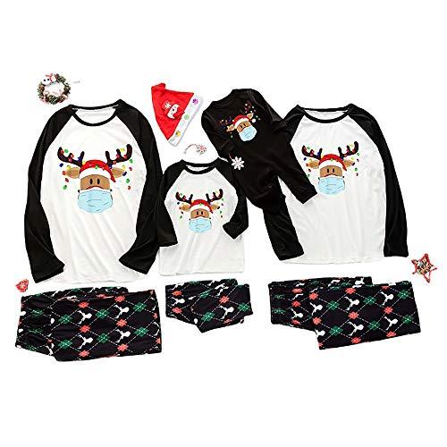 LHFD Sleepwear Outfits for Dad Mom Kids, Family Matching Christmas pjs Pyjama, Parent-Child Clothes Set, Christmas Pajamas, Family Christmas Pyjamas Set