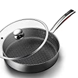 Cocina eficiente Pot sólido antideslizante Moderno Familia Moderno Picnic al aire libre Pan de picnic antiadherente Pan sin humo Frying Pan Steak Inducción Cocina Gas Universal Copper Stone Pan Set