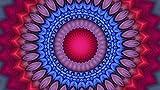Rompecabezas 1000 Piezas Adultos De Madera Niño Puzzle-Mandala Morado-Juego Casual De Arte Diy Juguetes Regalo Interesantes Amigo Familiar Adecuado