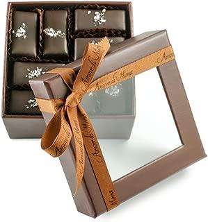 Fine, Artisanal, Vegan Chocolate Gift: Amore di Mona 16 Piece Sel Mignardise: Made Pure & Simply with Premium Ingredients, Non-GMO, Kosher, Gluten, Soy, Milk, Sesame & Nut Free