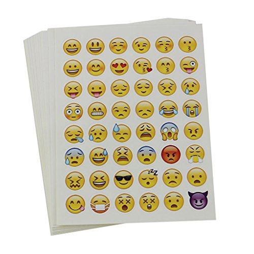 MagiDeal 20 Blätter Sterben Schnitt Emoji Aufkleber Für Telefon-Laptop Dekor