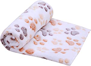 HOLD HIGH Soft Blanket for Pets, Christmas Throw Blankets Super Soft Warm Dog Cat Cleaning Towel Pet Dirty Paw Carpet High Suction Lazy Blankets (60x40cm, Beige)