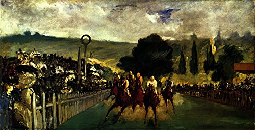 Das Museum Outlet–Race at Longchamp by Edouard _ Manet, gespannte Leinwand Galerie verpackt. 96,5x 121,9cm