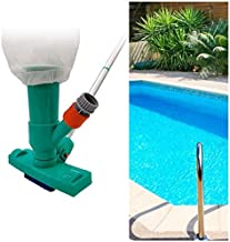 Aubess Aspirador de fondo de piscina, Aspirador portátil de piscina con barra, Limpiador de piscina, Piscina de limpieza rápida, Accesorios de limpieza de piscina