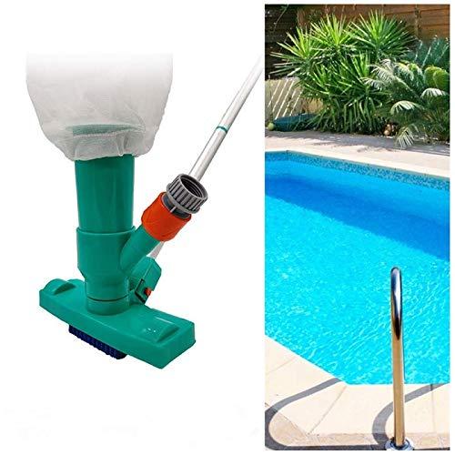 Aubess Aspirador de fondo de piscina, Aspirador portátil de piscina con barra,...