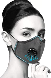 RANDALL- 2 Masks 8 Filters Reusable Cotton Dust Mask. PM2.5 Carbon Activated Filters That Provides Natural, Breathable, Secure, and Comfortable Long Wear for Travel and Work.
