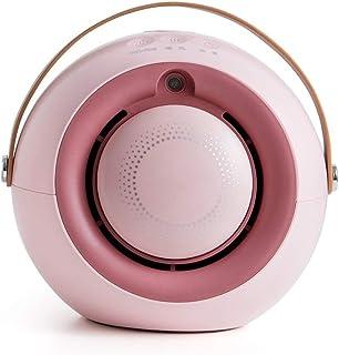 DS Protección Sobrecalentamiento,Sistema Antivuelco,Termostato Regulable,función Silence,Calefactor 2000 W (Color : Pink)