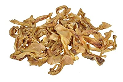 Downtown Pet Supply Pig Ear Strips for Dogs, 100% Natural Pigs Ears Treats - 1 LB