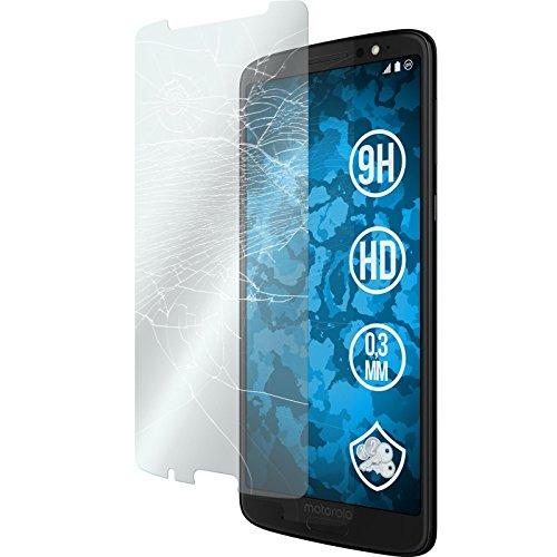 Preisvergleich Produktbild PhoneNatic 1 x Glas-Folie klar kompatibel mit Lenovo Moto G6 Plus - Panzerglas für Moto G6 Plus