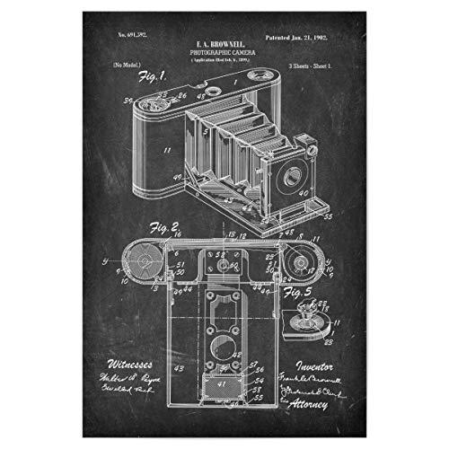 artboxONE Poster 30x20 cm Film Retro Kamera Patent II (Tafel) - Bild antike fotoapparat fotoapparat Kamera