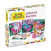 The Orb Factory Sticky Mosaics Unicorns Arts and Crafts (2108 Piece), Pink/Teal/Blue/Purple, 30cm x 5.1cm x 27cm