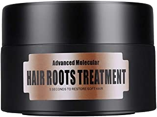 Hair Detoxifying Nourishing Mask Advanced Molecular Hair Roots Treatment Dry Curly Oily Damaged Hair Conditioner Split-End Elasticity Recover for Soft Smooth Hair 5 Seconds Restore (black, 50ml)