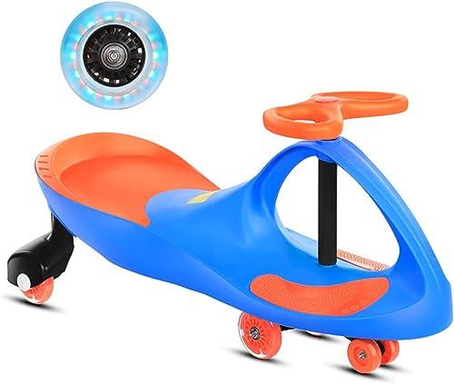 LiRuShop Bobbycars & Rutscher Ride On Swivel Scooter Kinder Wiggle Gyro Swing Auto Kinder Twist Auto 1-3-6 Jahre alt m liche Baby Universal-Rad Schaukel Auto verdickt PU-Rad