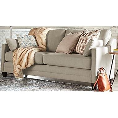Serta Carmina Sofa, Chenille Fabric, Linen