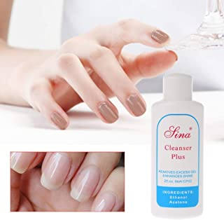 GOUWEI 1pc Cleansing Gel Remover Solvent Cleaner UV Gel Tip Clean Plus Enhance Shining Effect Cleanser Liquid Nail Art Tool 60ml