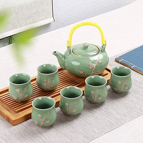 WECDS-E Tetera China Tranditional Juegos de Tetera de Porcelana Tetera Hecha a Mano Oficina en casa Negocio (Color: C)