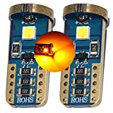 MCK Auto - Sostituzione per T10 T15 501 W5W LED CanBus Set di lampadine arancioni molto chiare e senza errori