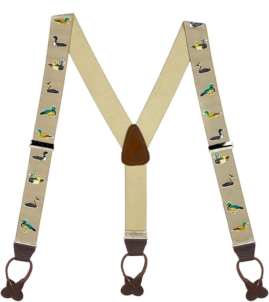 SuspenderStore Men's Duck Suspenders - BUTTON