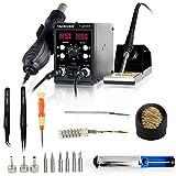 YAOGONG Automatic 2 In 1 Hot Air SMD Digital Rework Soldering Station Mobile Phone Repair Tools Set…