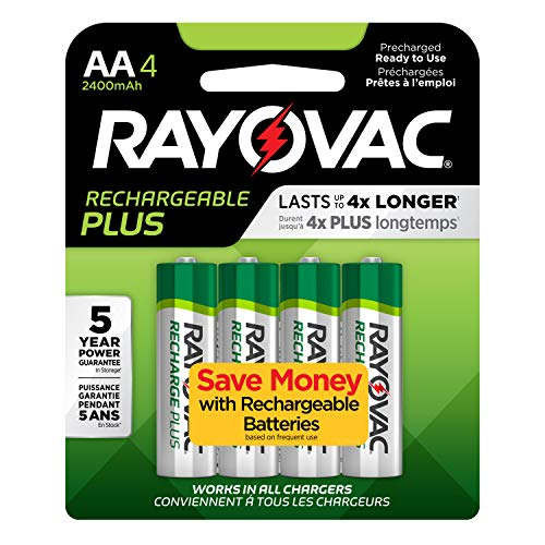 Rayovac Rechargeable AA Batteries High Capacity Rechargeable Plus AA Batteries 4 Count