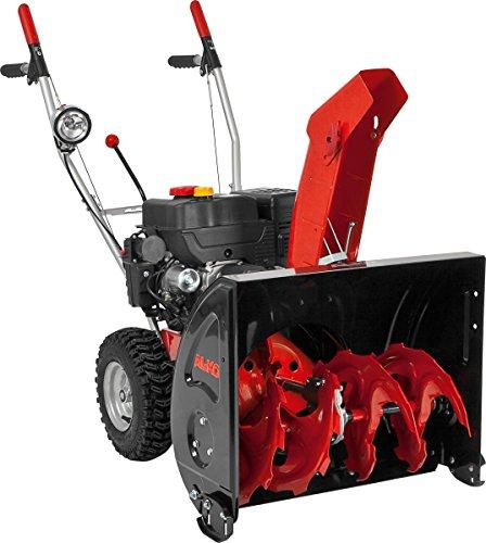 AL-KO Benzinschneefräse 620E II Snowline (4.4 kW, 212 ccm, 62 cm Räumbreite, Einzugshöhe 51 cm, integrierter Scheinwerfer, Seilzug/elektrisch 230 V, drehbarer Auswurfschacht, Radantrieb mit 5 Vorwärts- und 2 Rückwärtsgängen, Luftbereifung)