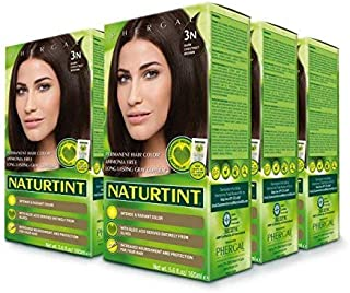 Naturtint Permanent Hair Color 3N Dark Chestnut Brown (Pack of 6), Ammonia Free, Vegan, Cruelty Free, up to 100% Gray Cove...