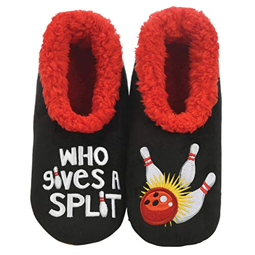 Snoozies Mens Slippers - Pairables House Slippers for Men - Who Gives A Split - Medium