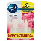 Ambi Pur Ricarica Liquida, Deodoranti per Ambienti, Elimina Odori, Elettrico ai Fiori Eleganti, Maxi Formato 2 x 2 1.5 ml, 160 Giorni di Autonomia