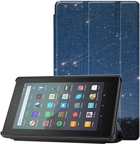 Fundas para tabletas Noche Azul Cielo Árbol de Meteor Galaxy Mountain Fundas para tabletas Fire 7 Tablet (9ª generación, 2019 lanzamiento) Ligero con Auto Sleep/Wake