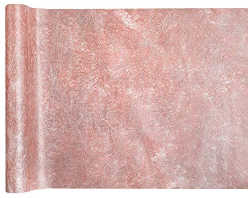 Like a Girl - wir lieben Hochzeiten Tischläufer Rosé-Gold aus Fanon - Tischband - edle Tischdekoration für Ihre Hochzeit