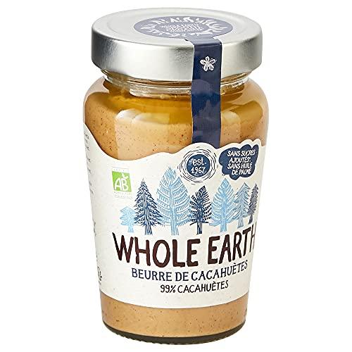 Whole Earth Beurre de Cacahuètes Crémeux Bio - Source de protéines - Sans Huile de Palme et Sans Sucres Ajoutés - 1 pot – 340 g