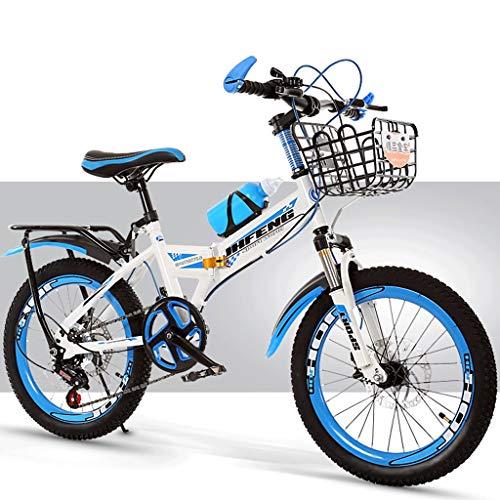 GWXSST Los niños Variable de Velocidad de Bicicletas Plegables Bicicletas de montaña, niños y niñas Actividades al Aire Libre de Coches, con la Cesta