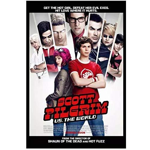 QQWER Scottpilgrim Gegen Den Welt Offiziellen Kinofilm Poster Leinwandbilder Wandkunst Bilder Wohnkultur -50X70Cmx1Pcs -Kein Rahmen