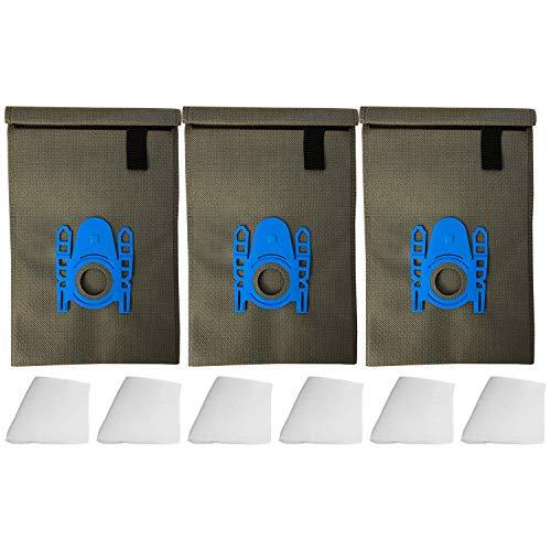 3 wiederverwendbare Dauer-Textil-Staubsaugerbeutel kompatibel für Siemens VSZ 31455, VSZ 32412 Z 3.0 Power Edition, VSZ 5 GPX1 Z 5.0 Extreme Green Power, VSZ 6 GPX 1 Z6.0 Extreme, VZ 41 AFG