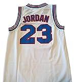 AIFFEE Men's 23 Space Jam Basketball Jersey Sports Shirts White Black Color Size S,M,L,XL,XXL,XXXL (XL, White)