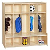 Contender 5-Section Coat Locker With Bench & Cubby Storage For Kids, Backpack Organizer Wi...