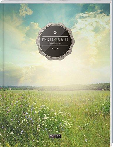 """TULPE Punktraster Notizbuch A4 """"C013 Sonnenaufgang"""" (140+ Seiten, Vintage Softcover, Punktkariertes Papier - Bullet Journal, Dickes Notizheft, ... Gepunktete Seiten, Dot Grid Notebook)"""