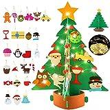 Legendog DIY Fieltro Árbol de Navidad, 3D Árbol de Navidad de Fieltro con LED Luces de...