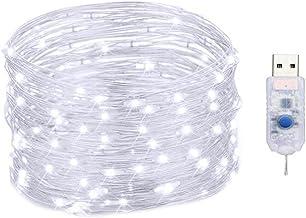 String Licht LED Aangedreven Kerst Devoratie Kleurrijke Waterdichte Koper met Afstandsbediening Timer voor Party Outdoor 5...