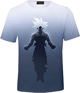 c04347c8 Fushimuma Men's Dragon Ball Goku Graphic 3D Print Short Sleeve Summer T-Shirts  Tee Tops