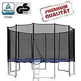 Baunsal GmbH & Co.KG Gartentrampolin Trampolin 427 bis 430 cm in blau mit Sicherheitsnetz und...