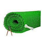SAI PRASEEDA PVC Nylon Garden Fencing Net/Mesh (3.3feet/20feet) UV Stabilized Heavy 800GSM Anti Bird Net Green Color 6 Months Guarantee with Free 1 Cutter,50 PVC Tags Model NO:1